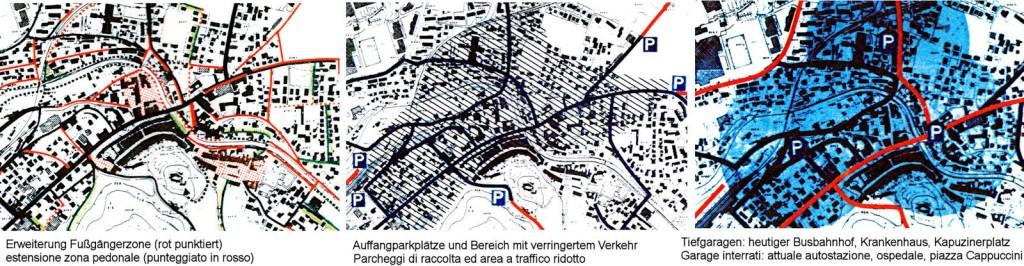 Grafiken aus Verkehrskonzept Tiefenthaler-Winkler, 1993